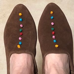 Shoes - New brown suede Moroccan babouches.